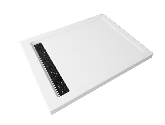 duschwanne tasse west ablaufgarnitur rinne wei 100x80. Black Bedroom Furniture Sets. Home Design Ideas