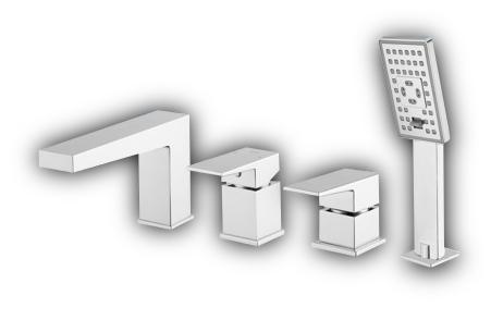 4 loch wannen armatur fresh einhandmischer chrom neu h chste qualit t fr7132 ebay. Black Bedroom Furniture Sets. Home Design Ideas