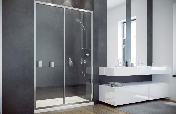 duschabtrennung duscht r mit duschwanne nischent r klarglas duo slide alpina ebay. Black Bedroom Furniture Sets. Home Design Ideas