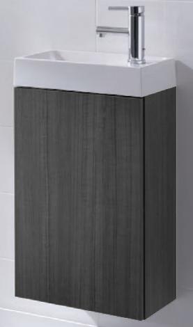 badm bel waschbecken h nge unterschrank waschtisch spiegel young pinie anthrazit ebay. Black Bedroom Furniture Sets. Home Design Ideas