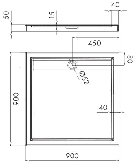 duschwanne rechteckig unterbau tr ger duschtasse flach ablauf acryl ajax ap50 t ebay. Black Bedroom Furniture Sets. Home Design Ideas